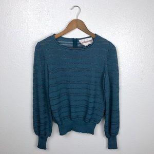 Castleberry   Vintage Teal Open Knit Pullover